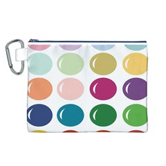 Brights Pastels Bubble Balloon Color Rainbow Canvas Cosmetic Bag (l) by Mariart