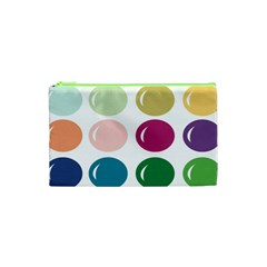 Brights Pastels Bubble Balloon Color Rainbow Cosmetic Bag (xs) by Mariart