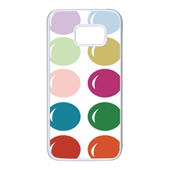 Brights Pastels Bubble Balloon Color Rainbow Samsung Galaxy S7 White Seamless Case by Mariart