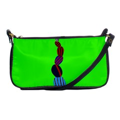 Egg Line Rainbow Green Shoulder Clutch Bags by Mariart