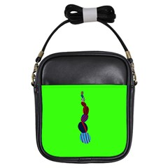 Egg Line Rainbow Green Girls Sling Bags by Mariart
