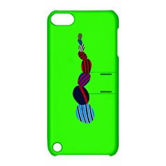 Egg Line Rainbow Green Apple Ipod Touch 5 Hardshell Case With Stand by Mariart