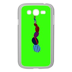 Egg Line Rainbow Green Samsung Galaxy Grand Duos I9082 Case (white) by Mariart