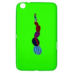 Egg Line Rainbow Green Samsung Galaxy Tab 3 (8 ) T3100 Hardshell Case  by Mariart