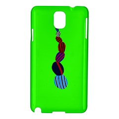 Egg Line Rainbow Green Samsung Galaxy Note 3 N9005 Hardshell Case by Mariart