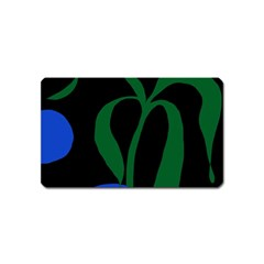 Flower Green Blue Polka Dots Magnet (name Card) by Mariart