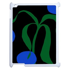 Flower Green Blue Polka Dots Apple Ipad 2 Case (white) by Mariart