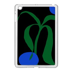Flower Green Blue Polka Dots Apple Ipad Mini Case (white) by Mariart