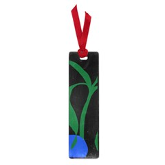 Flower Green Blue Polka Dots Small Book Marks by Mariart