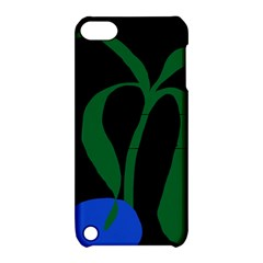 Flower Green Blue Polka Dots Apple Ipod Touch 5 Hardshell Case With Stand by Mariart
