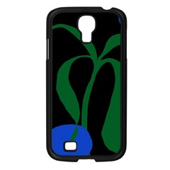 Flower Green Blue Polka Dots Samsung Galaxy S4 I9500/ I9505 Case (black) by Mariart