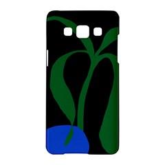 Flower Green Blue Polka Dots Samsung Galaxy A5 Hardshell Case  by Mariart