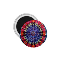 Circle Purple Green Tie Dye Kaleidoscope Opaque Color 1 75  Magnets by Mariart