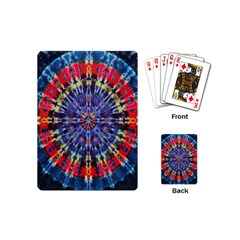 Circle Purple Green Tie Dye Kaleidoscope Opaque Color Playing Cards (mini)  by Mariart