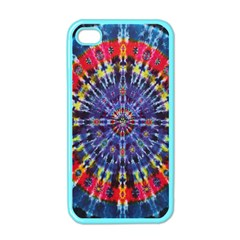 Circle Purple Green Tie Dye Kaleidoscope Opaque Color Apple Iphone 4 Case (color) by Mariart