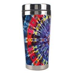 Circle Purple Green Tie Dye Kaleidoscope Opaque Color Stainless Steel Travel Tumblers by Mariart