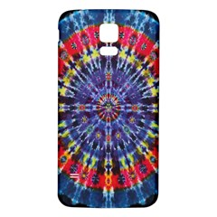 Circle Purple Green Tie Dye Kaleidoscope Opaque Color Samsung Galaxy S5 Back Case (white) by Mariart