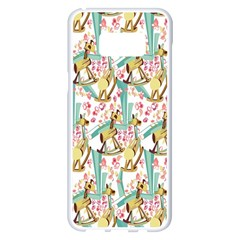 Wooden Gorse Illustrator Photoshop Watercolor Ink Gouache Color Pencil Samsung Galaxy S8 Plus White Seamless Case by Mariart