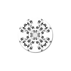 Floral Element Black White Golf Ball Marker (10 Pack) by Mariart