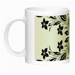 Floral Element Black White Night Luminous Mugs by Mariart
