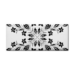 Floral Element Black White Cosmetic Storage Cases by Mariart