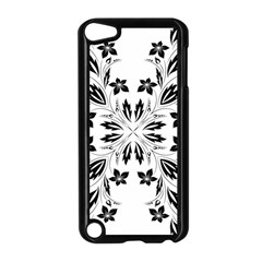 Floral Element Black White Apple Ipod Touch 5 Case (black) by Mariart