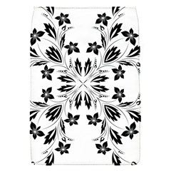 Floral Element Black White Flap Covers (s)  by Mariart