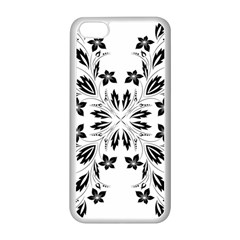 Floral Element Black White Apple Iphone 5c Seamless Case (white) by Mariart