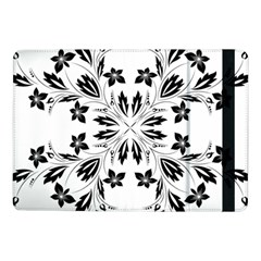 Floral Element Black White Samsung Galaxy Tab Pro 10 1  Flip Case by Mariart