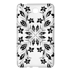 Floral Element Black White Samsung Galaxy Tab 4 (7 ) Hardshell Case  by Mariart