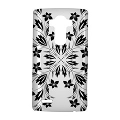 Floral Element Black White Lg G4 Hardshell Case by Mariart