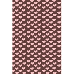 Chocolate Pink Hearts Gift Wrap 5 5  X 8 5  Notebooks by Mariart