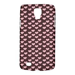Chocolate Pink Hearts Gift Wrap Galaxy S4 Active by Mariart