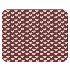 Chocolate Pink Hearts Gift Wrap Double Sided Flano Blanket (medium)  by Mariart