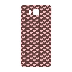 Chocolate Pink Hearts Gift Wrap Samsung Galaxy Alpha Hardshell Back Case by Mariart