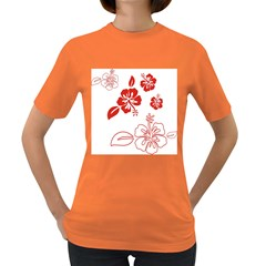 Hawaiian Flower Red Sunflower Women s Dark T Shirt by Mariart