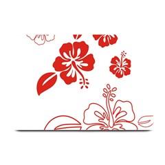 Hawaiian Flower Red Sunflower Plate Mats by Mariart