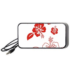 Hawaiian Flower Red Sunflower Portable Speaker (black) by Mariart