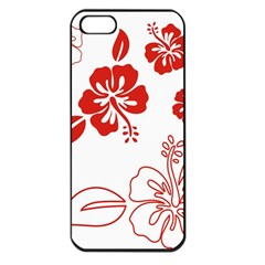 Hawaiian Flower Red Sunflower Apple Iphone 5 Seamless Case (black) by Mariart