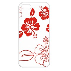 Hawaiian Flower Red Sunflower Apple Iphone 5 Seamless Case (white) by Mariart