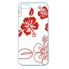 Hawaiian Flower Red Sunflower Apple Seamless Iphone 5 Case (color) by Mariart