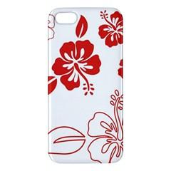 Hawaiian Flower Red Sunflower Apple Iphone 5 Premium Hardshell Case by Mariart
