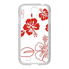 Hawaiian Flower Red Sunflower Samsung Galaxy S4 I9500/ I9505 Case (white) by Mariart
