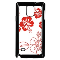 Hawaiian Flower Red Sunflower Samsung Galaxy Note 4 Case (black) by Mariart