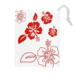 Hawaiian Flower Red Sunflower Drawstring Pouches (extra Large) by Mariart