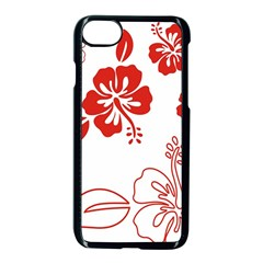 Hawaiian Flower Red Sunflower Apple Iphone 7 Seamless Case (black) by Mariart