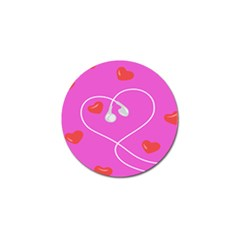 Heart Love Pink Red Golf Ball Marker (4 Pack) by Mariart