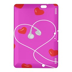 Heart Love Pink Red Kindle Fire Hdx 8 9  Hardshell Case by Mariart