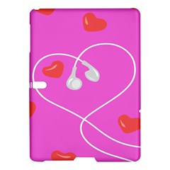 Heart Love Pink Red Samsung Galaxy Tab S (10 5 ) Hardshell Case  by Mariart