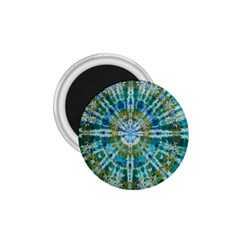 Green Flower Tie Dye Kaleidoscope Opaque Color 1 75  Magnets by Mariart